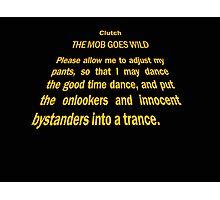 Clutch - Star Wars text crawl shirt Photographic Print