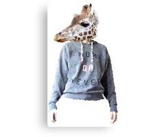 anthropomorphic giraffe - Lane Canvas Print
