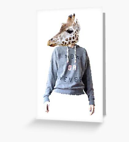 anthropomorphic giraffe - Lane Greeting Card