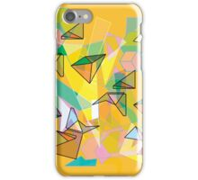 SHAPES IN ORANGE iPhone Case/Skin