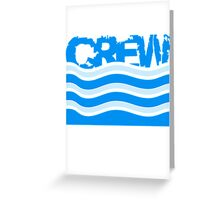Crew water waves logo Greeting Card