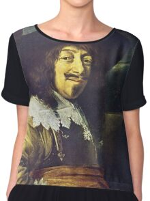 Portrait of an Officer by Frans Hals Chiffon Top