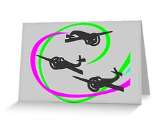 Aerobatic planes | Vivid Vapor trails Greeting Card