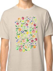 Fresh Fruit - a watercolor pattern Classic T-Shirt