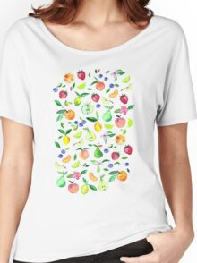 Fresh Fruit - a watercolor pattern Women's Relaxed Fit T-Shirt