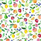 Fresh Fruit - a watercolor pattern by micklyn