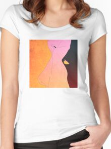 Information Within Women's Fitted Scoop T-Shirt