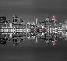 Liverpool skyline panorama at night by Paul Madden