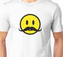 Moustache Smiley Unisex T-Shirt