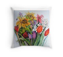 Garden Show Throw Pillow