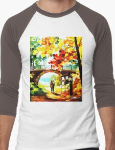 tardis scenery  Men's Baseball ¾ T-Shirt