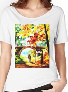 tardis scenery  Women's Relaxed Fit T-Shirt