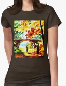 tardis scenery  Womens Fitted T-Shirt