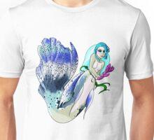 Blue Fin Guppy Mermaid Unisex T-Shirt