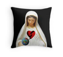 A TEAR FROM A BROKEN HEART ..TO A BROKEN WORLD-THROW PILLOW BY RAPTURE777 Throw Pillow