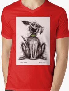 Fuzzy Fred Mens V-Neck T-Shirt
