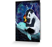 PELUSA - Panda espacial Greeting Card