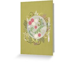 Radishes and edible leaves Greeting Card