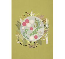 Radishes and edible leaves Photographic Print