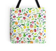 Fresh Fruit - a watercolor pattern Tote Bag
