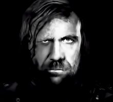 Rory McCann as The Hound in Game of Thrones Digital Art Portrait by David Alexander Elder
