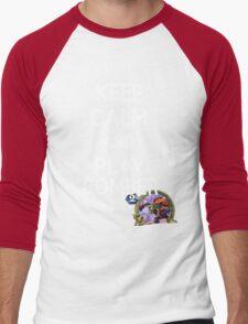 Keep Calm And Play Bomber Men's Baseball ¾ T-Shirt