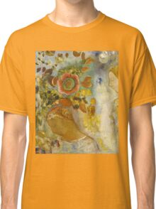 Odilon Redon - Two Young Girls Among Flowers 1912. Garden landscape: garden view, trees and flowers, blossom, Girls,  Young,  Among Flowers, wonderful flowers, dream, think, garden, flower Classic T-Shirt