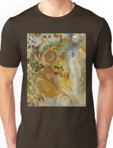 Odilon Redon - Two Young Girls Among Flowers 1912. Garden landscape: garden view, trees and flowers, blossom, Girls,  Young,  Among Flowers, wonderful flowers, dream, think, garden, flower Unisex T-Shirt