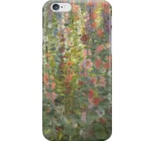 Otto Stark - Hollyhocks. Still life with flowers: still life with flowers, flowers, blossom, nature, botanical, floral flora, wonderful flower, plants, cute plant for kitchen interior, garden, vase iPhone Case/Skin