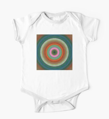 Vivid Peace - Circle Art By Sharon Cummings One Piece - Short Sleeve