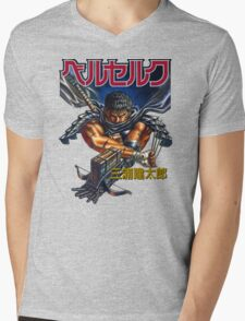 Black Swordsman Mens V-Neck T-Shirt
