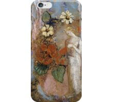 Pandora - Pandora. Garden landscape: garden view, trees and flowers, blossom, nature, woman, Mystery, wonderful flowers, dream, think, garden, flower iPhone Case/Skin