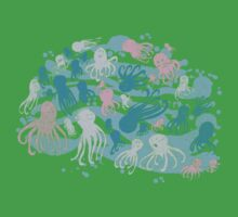 octopus party Kids Tee