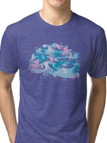 octopus party Tri-blend T-Shirt