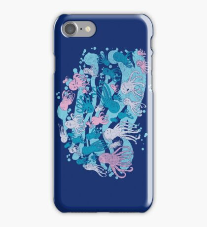 octopus party iPhone Case/Skin