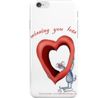 Blue Cat, missing you lots - tony fernandes iPhone Case/Skin