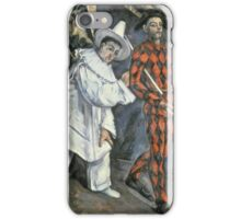 Paul Cezanne - Pierrot And Harlequin. Man portrait:  circus, clown, clowns, costume, harlequin, Pierrot, boyfriend, smile, funnyman, sexy men, ruff iPhone Case/Skin