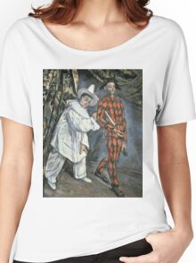 Paul Cezanne - Pierrot And Harlequin. Man portrait:  circus, clown, clowns, costume, harlequin, Pierrot, boyfriend, smile, funnyman, sexy men, ruff Women's Relaxed Fit T-Shirt
