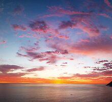 Chapmans Peak Sunset Panoramic by Jared Brain