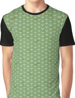 Kawaii Olives Chillin' in Martini Glasses Graphic T-Shirt
