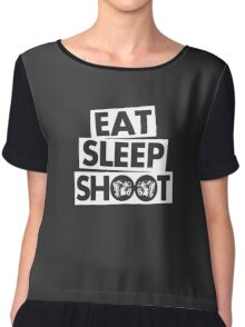 Eat Sleep Shoot Photographer funny Chiffon Top