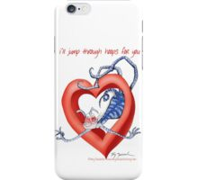 Blue Cat, jump through hoops - tony fernandes iPhone Case/Skin