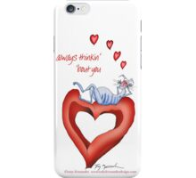 Blue Cat, thinkin' about you - tony fernandes iPhone Case/Skin