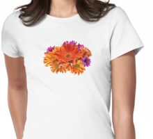 Mixed Bouquet With Gerbera Daisy and Mums Womens Fitted T-Shirt