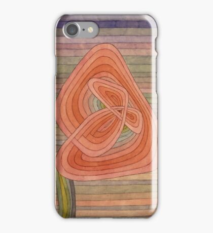 Paul Klee - Lonely Flower. Abstract painting: abstract art, geometric, Lonely ,  Flower, lines, forms, creative fusion, spot, shape, illusion, fantasy future iPhone Case/Skin