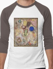 Paul Klee - Magic Garden. Abstract painting: abstract art, geometric, Garden, Magic , lines, forms, creative fusion, spot, shape, illusion, fantasy future Men's Baseball ¾ T-Shirt