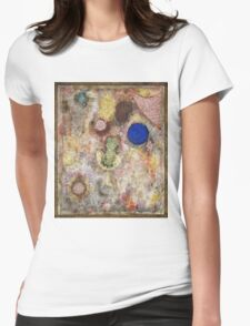 Paul Klee - Magic Garden. Abstract painting: abstract art, geometric, Garden, Magic , lines, forms, creative fusion, spot, shape, illusion, fantasy future Womens Fitted T-Shirt