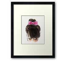 Bun and pink bow Framed Print
