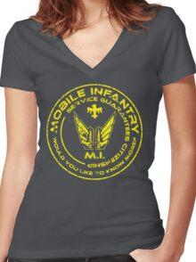 Starship Troopers - Mobile Infantry Women's Fitted V-Neck T-Shirt