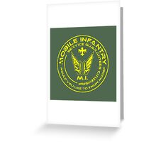 Starship Troopers - Mobile Infantry Greeting Card